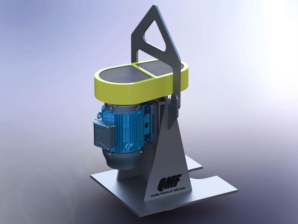 Industrial 4 inch Pump CAD Design Rendering